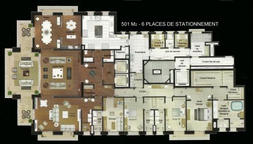 plan maison moderne luxe