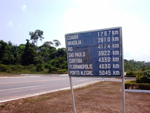 PA Santarem plaque de distances